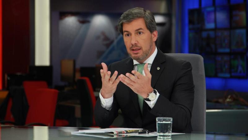 Entrevista a Bruno de Carvalho no Jornal das 8 (foto: Paulo Sampaio)