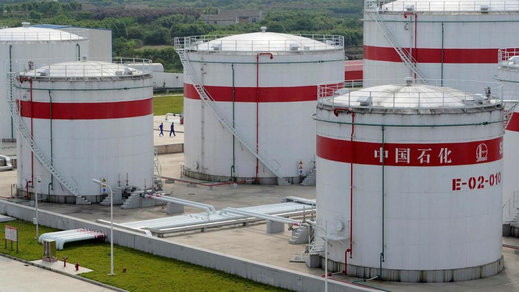 Refinaria de petróleo na província chinesa de Anhui
