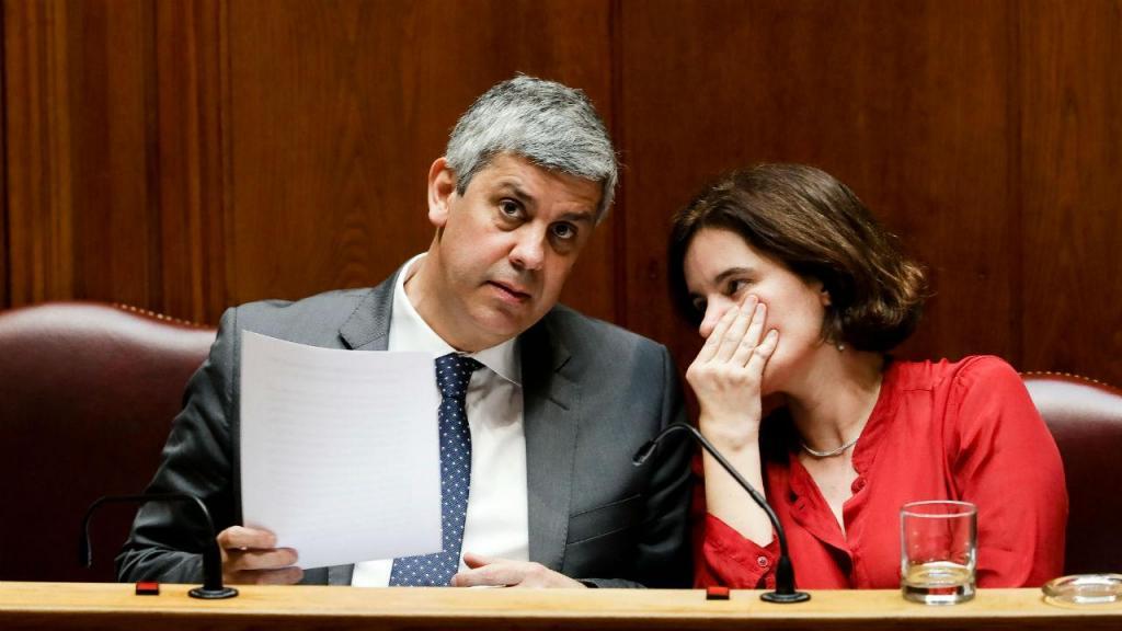 Mário Centeno e Mariana Vieira da Silva