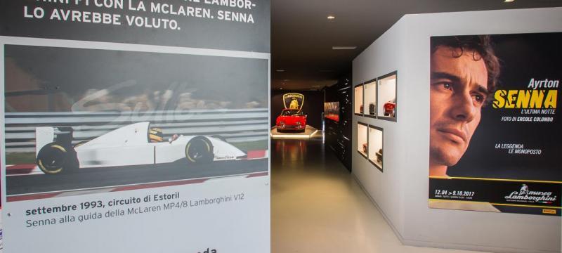 Ayrton Senna no Museu Lamborghini