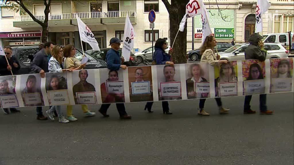 Professores protestam nas ruas de Lisboa