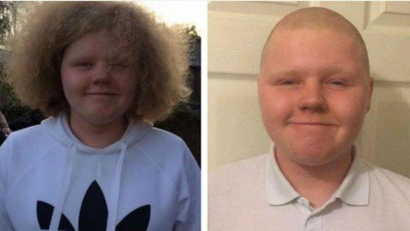 Taylor Jones, antes e depois do corte de cabelo
