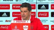 Rui Vitória deu os parabéns à formação do Benfica