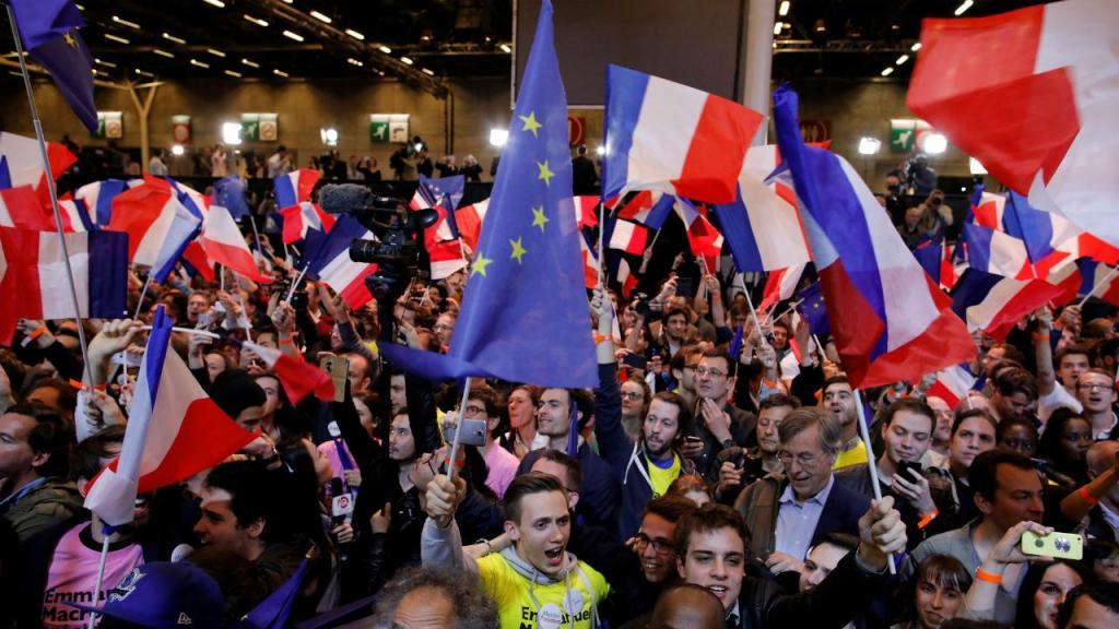 Noite eleitoral em França