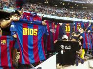 Camp Nou imitou Messi (EPA/QUIQUE GARCIA)