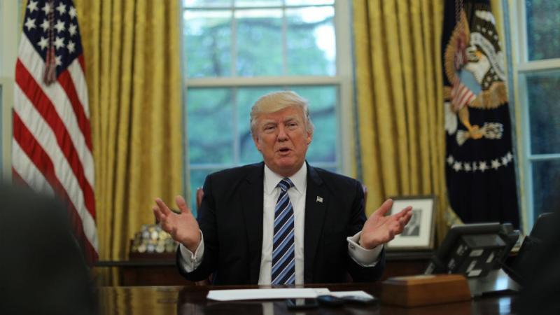 Donald Trump na Sala Oval da Casa Branca