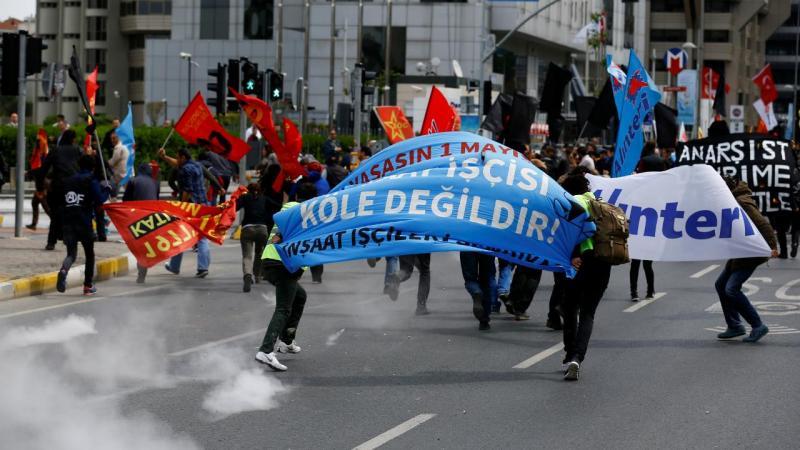 1º de Maio com protestos em Istambul