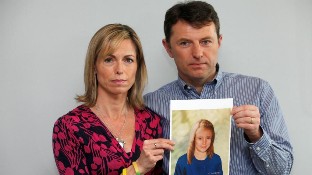 Maddie McCann - pais Kate e Gerry