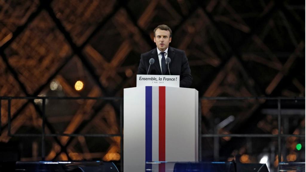 Emmanuel Macron - discurso de vitória na praça do Louvre