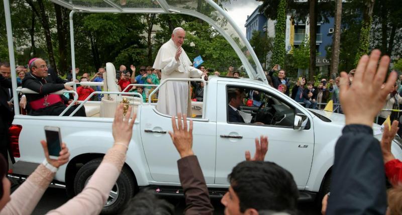 Papa no adeus a Fátima