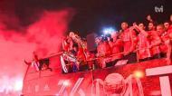 A loucura na saída do Benfica do Estádio da Luz