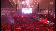 Hino do Benfica entoado no fim de festa