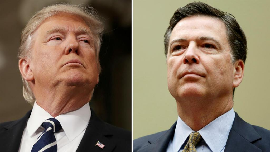 Donald Trump e James Comey