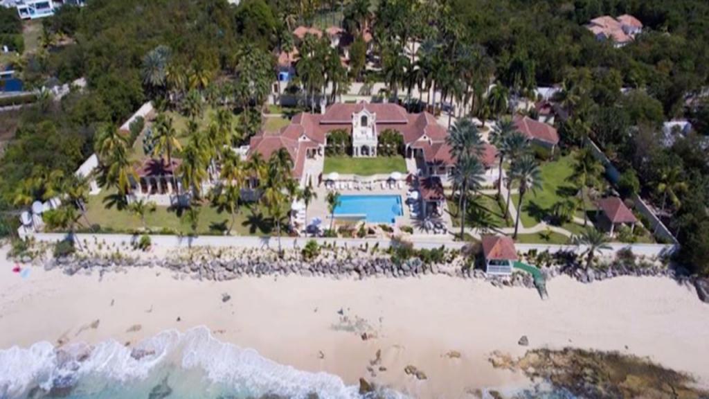 Mansão de Trump situa-se numa ilha das Caraíbas