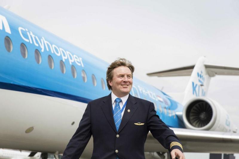 Durante 21 anos, Rei da Holanda pilotou voos comerciais em part-time