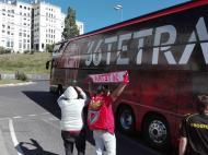 Autocarro do Benfica já está «vestido» à Tetra