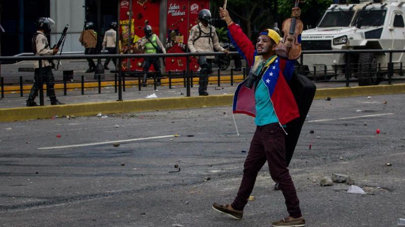 Manifestação na Venezuela
