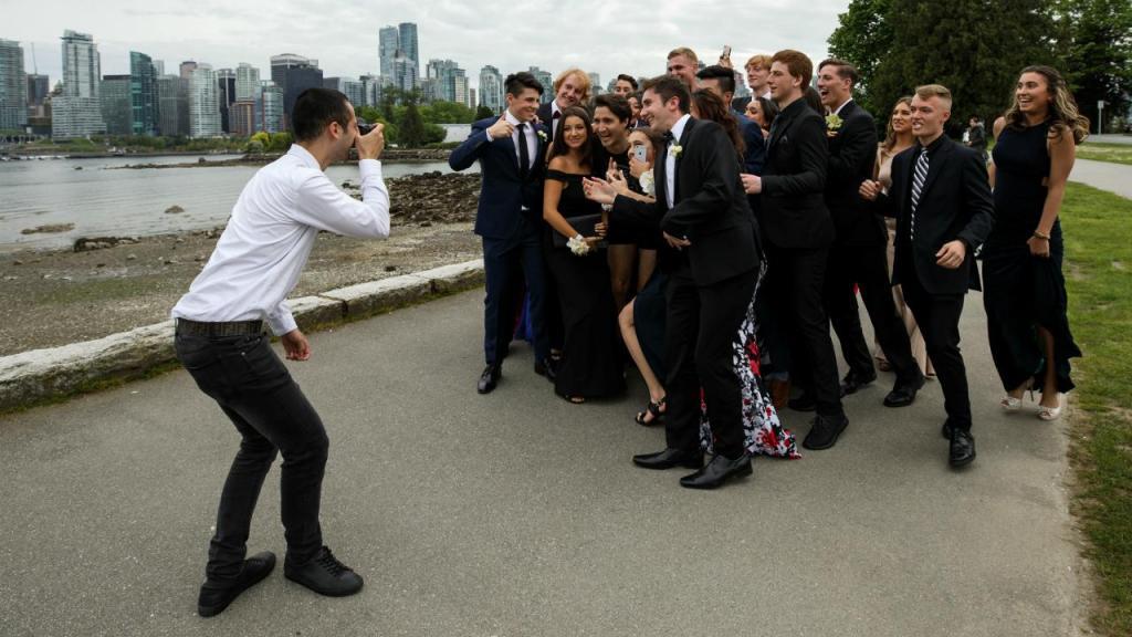 Justin Trudeau com o grupo finalista