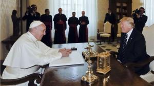 O encontro entre Trump e o Papa