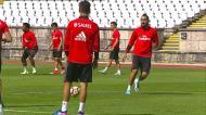 Benfica treinou no Jamor e apenas Jardel esteve ausente