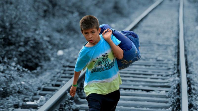 Criança refugiada