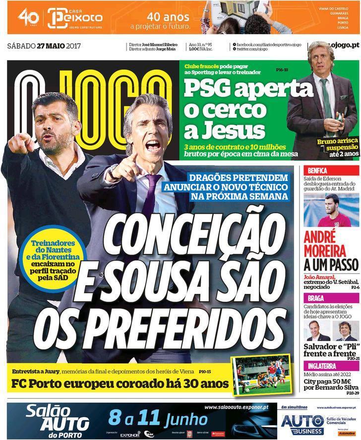 Quiosque: reforços para a Luz, PSG quer JJ e os nomes para o FCP