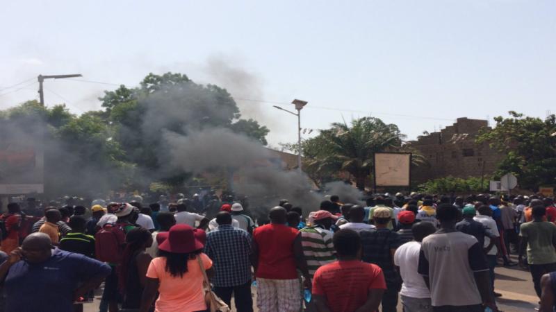 Protesto contra o presidente de Guiné Bissau