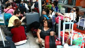 Caos nos aeroportos londrinos