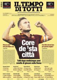 Jornal «IL Tempo» dedicado a Totti