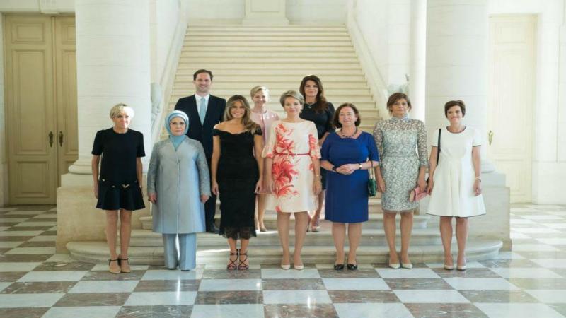 Fotografia oficial dos companheiros dos líderes da NATO