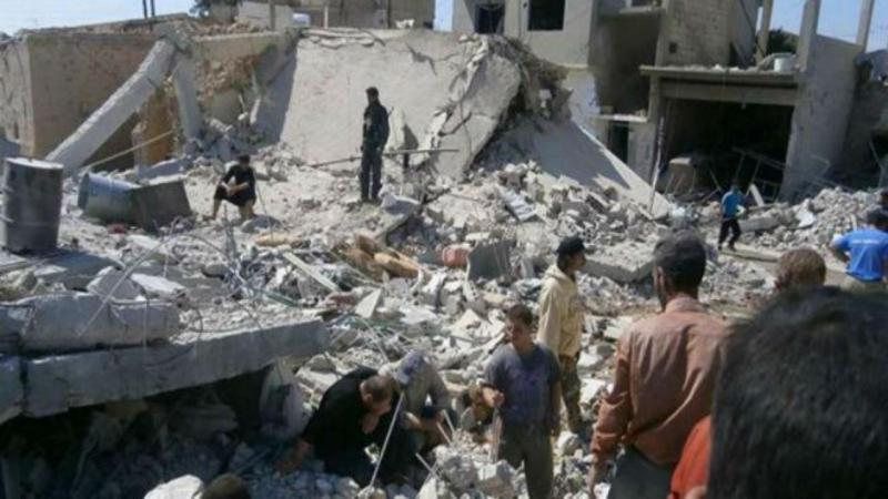 Bombardeamento na Síria
