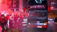 A receção ao Benfica no Estádio da Luz
