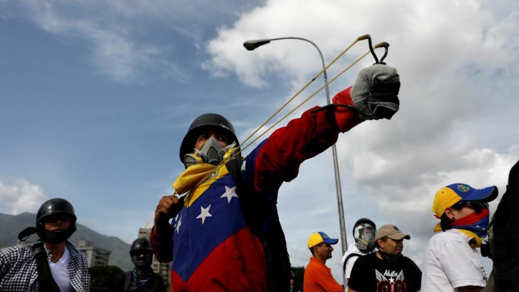 Protesto anti-governo em Caracas