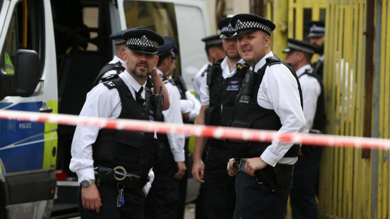 Operação policial em Newham, leste de Londres