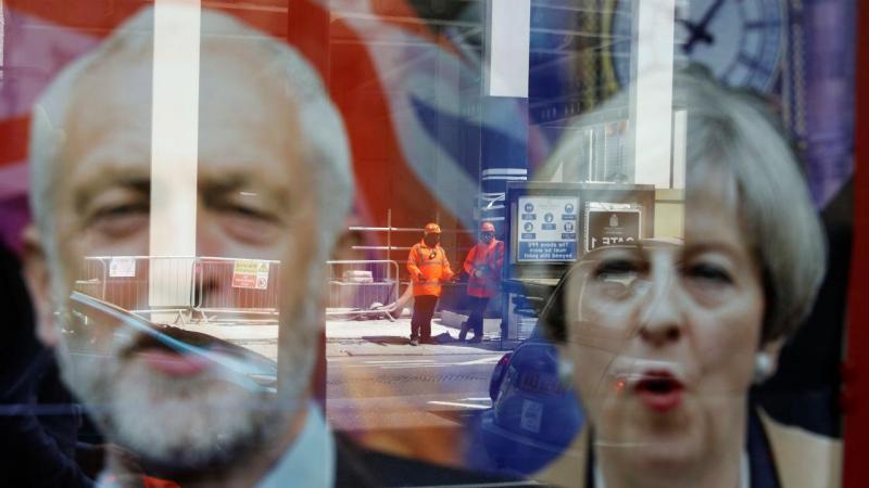 Jeremy Corbyn e Theresa May