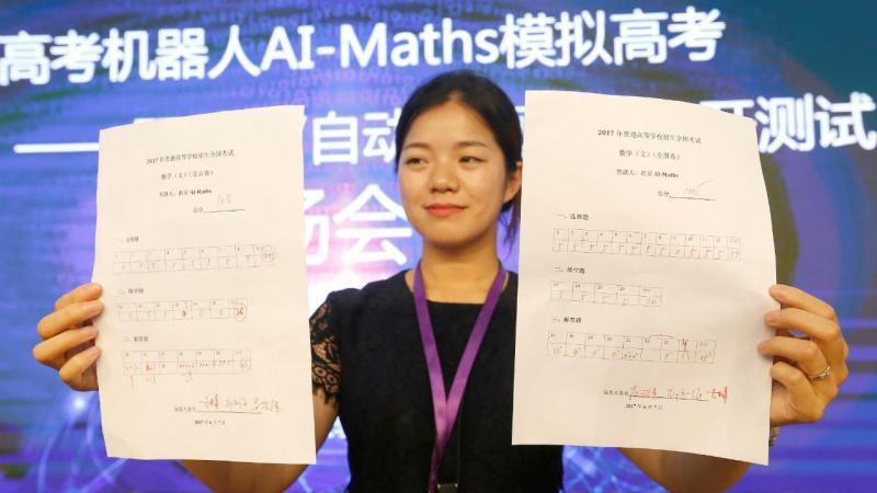 Testes de Matemática feitos pelo robô chinês AI-MATHS