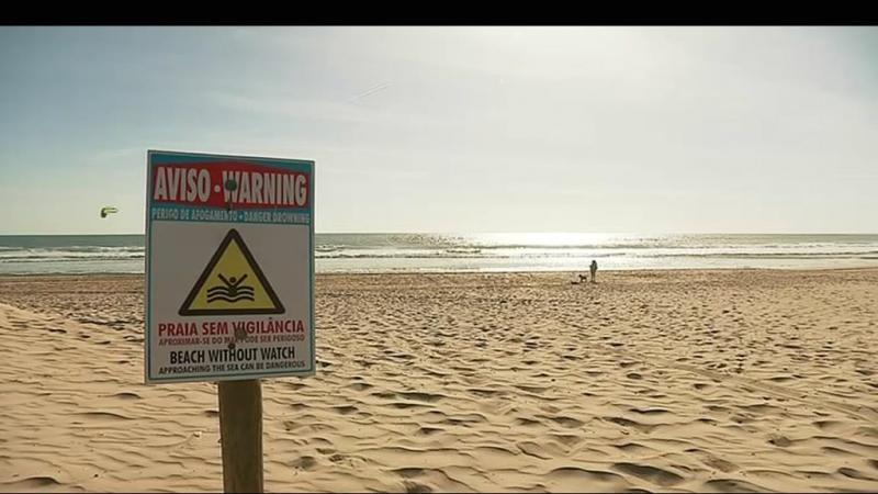 Praia sem vigilância