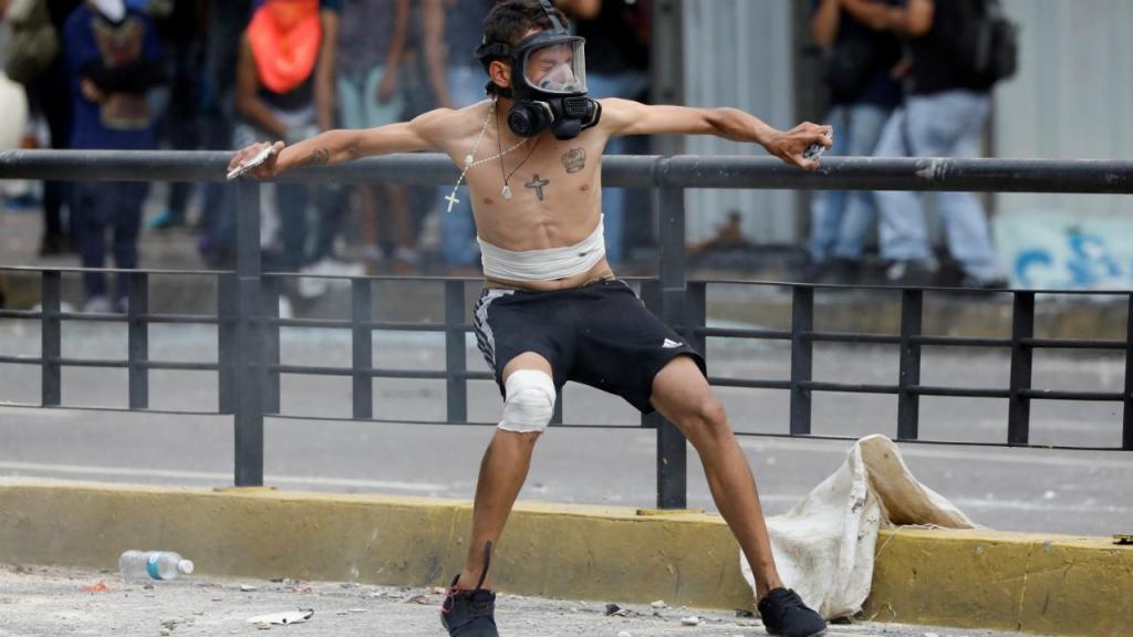 Manifestação em Caracas
