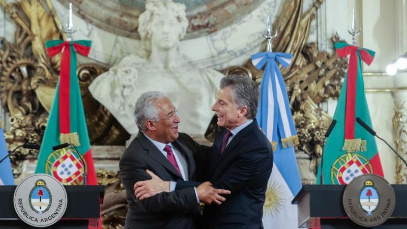 António Costa e Mauricio Macri (presidente da Argentina)