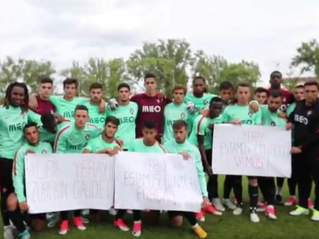 Mensagem dos Sub-21 para Yeray Álvarez