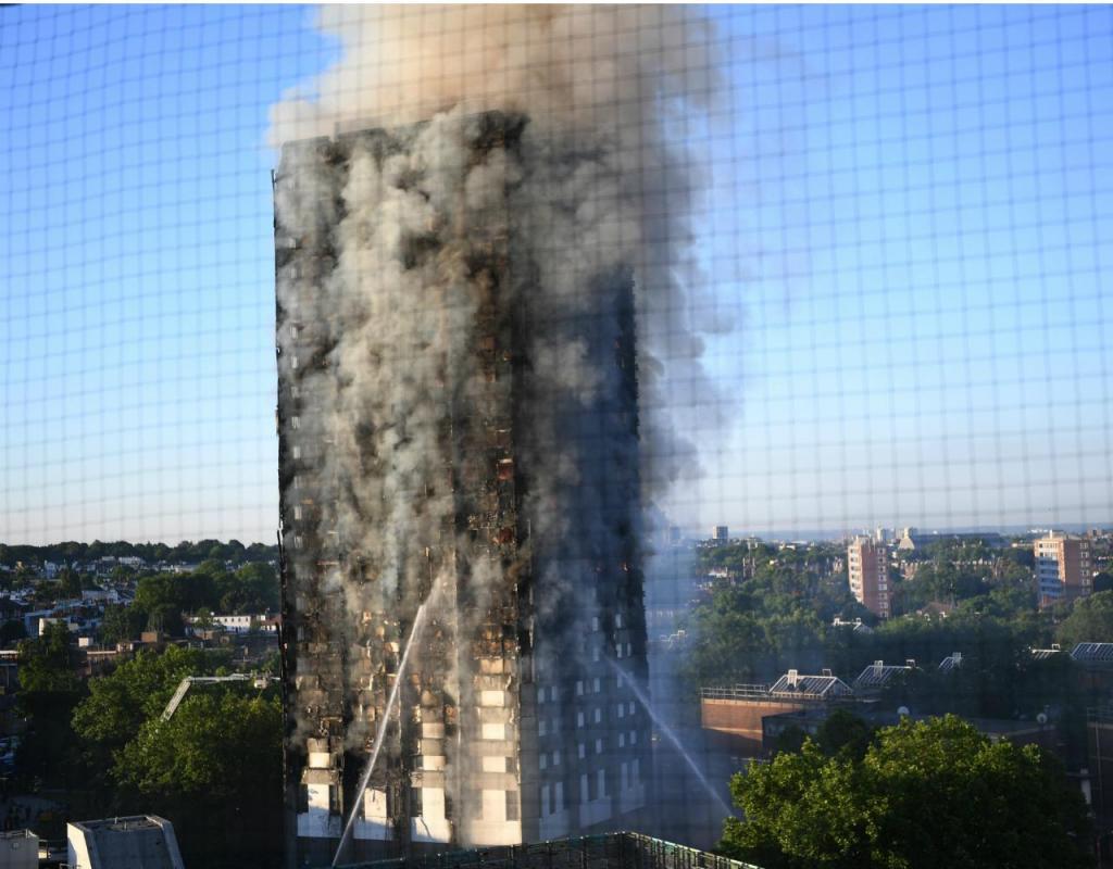 Incêndio em prédio no centro de Londres