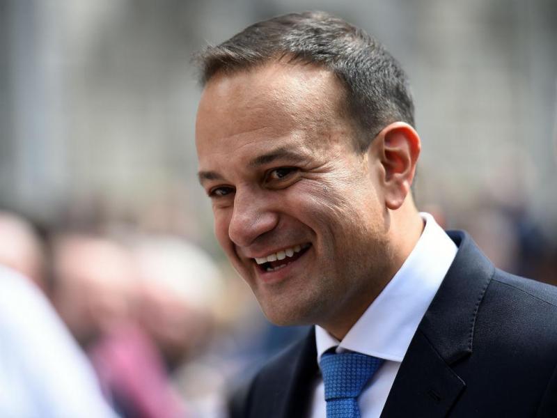Leo Varadkar à saída do Parlamento irlandês em Dublin, 14 de junho 2017