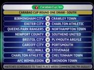 Charlton sai duas vezes no sorteio da Taça da Liga