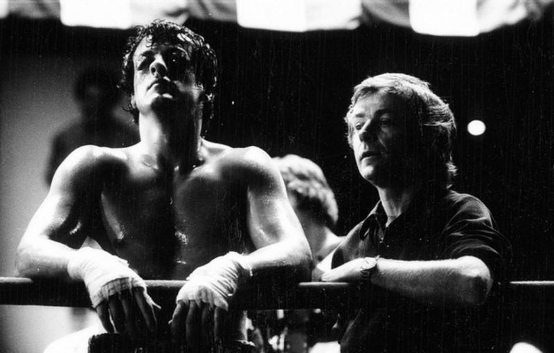 John G. Avildsen com Sylvester Stallone, na rodagem de