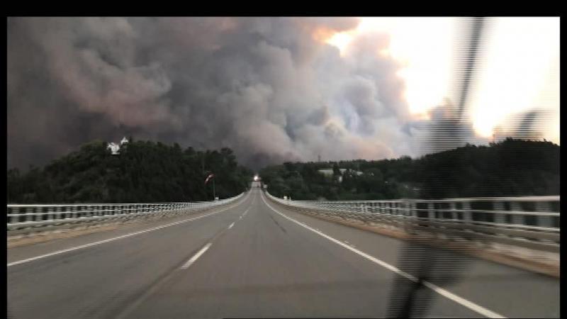 Vídeo captado no IC8 mostra a enorme coluna de fogo em Pedrógão Grande