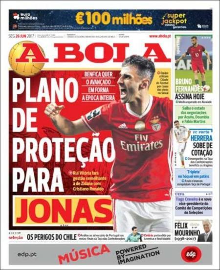 Quiosque: Benfica protege Jonas, Aboubakar no radar para o regresso