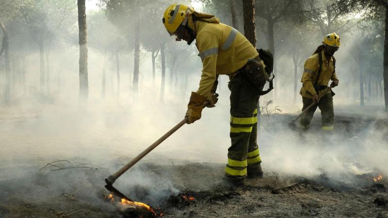 Grande incêndio em Huelva, sul de Espanha
