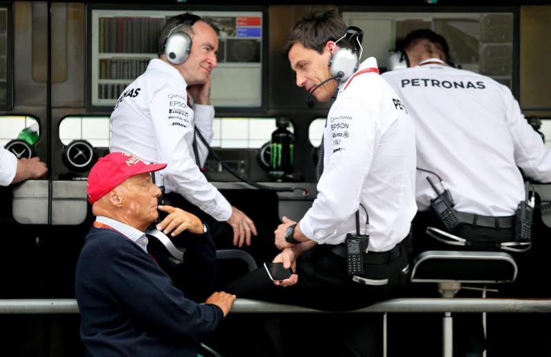 Toto Wolff e Niki Lauda