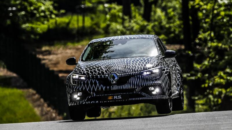 Renault Mégane RS ainda camuflado