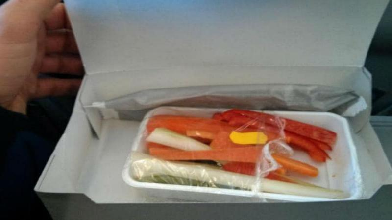 Pedido vegetariano diferente